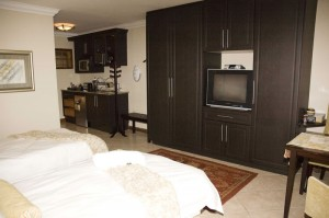 Spacious self-catering twin rooms